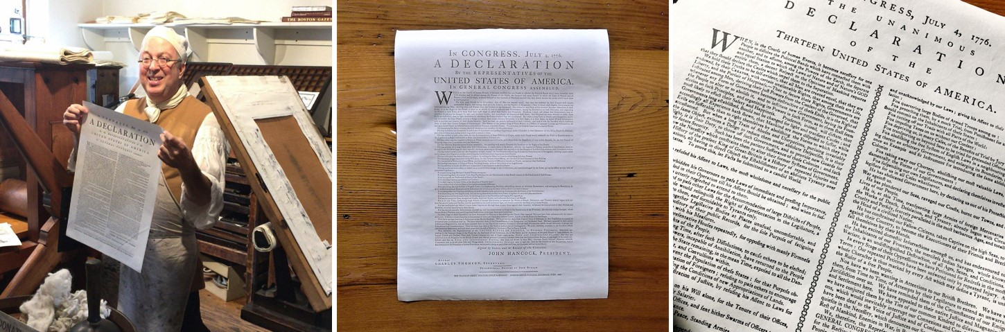3 Versions of the Declaration of Independence from The History List